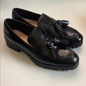 Womens Zara Loafers With Tassel Euro 37